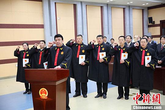 法官。(资料图)中新社记者 刘运琦 摄