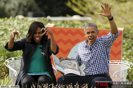 材料图:美国总统奥巴马与榜首夫人米歇尔。