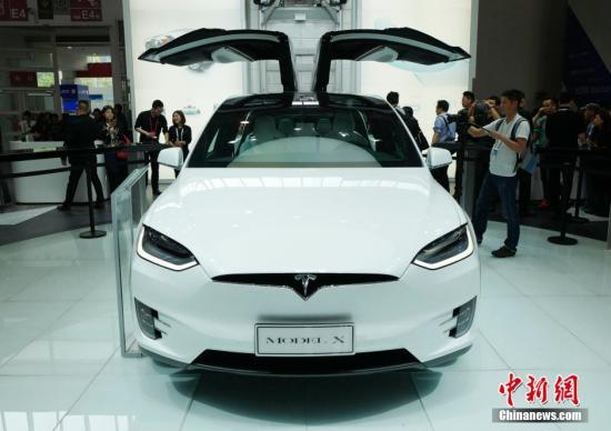 """资料图:特斯拉""""Model X""""。<a target='_blank' href='http://www.chinanews.com/'>中新社</a>记者 侯宇 摄"""