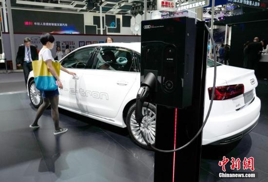 材料图:混淆动力汽车。a target='_blank' href='http://www.chinanews.com/'中新社/a记者 侯宇 摄