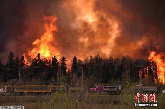 加拿大山火蔓延七千人疏散