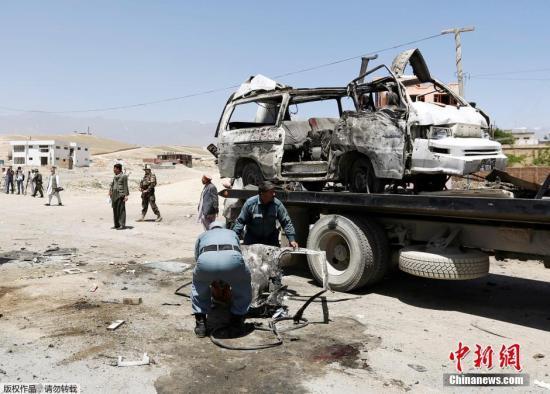 资料图:塔利班的自杀式袭击。