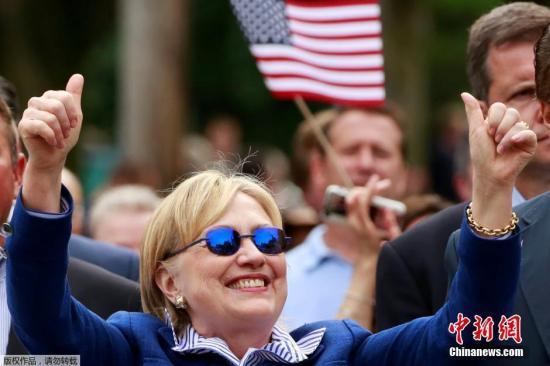 资料图:美国民主党候选人希拉里。
