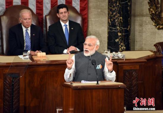 资料图片:印度总理莫迪。<a target='_blank' href='http://www.chinanews.com/'><p  align=