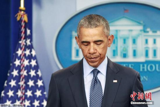材料图:奥兰多枪击案后,美国总统奥巴马揭晓发言。