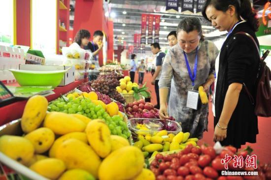 资料图:各种产自云南的水果。中新社记者 刘冉阳 摄