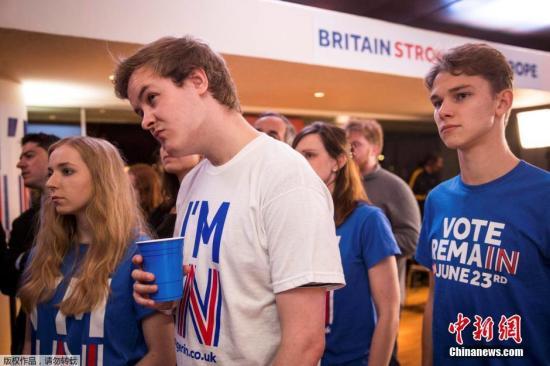 支持留欧的阵营在投票结果上落后。