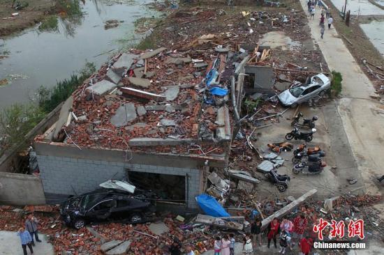 江苏环保厅:盐城受灾地区周边大气水环境未见