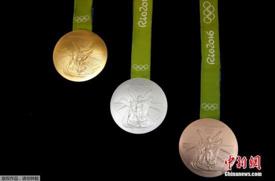 当地时间6月28日,2016年巴西里约奥运会的金银铜奖牌面世。