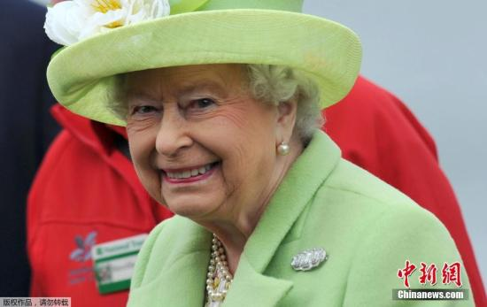 材料图:英国女王伊丽莎黑两世。