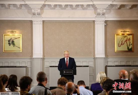 本地时刻2016年6月30日,英国伦敦,伦敦前市长鲍里斯·约翰逊发宣告不会竞选保管党党魁,他不会参加竞赛辅弼一职。鲍里斯·约翰逊为脱欧派代表人物,在卡梅伦宣告将于10月份告退以后,约翰逊曾被视为新任辅弼的抢手人选。
