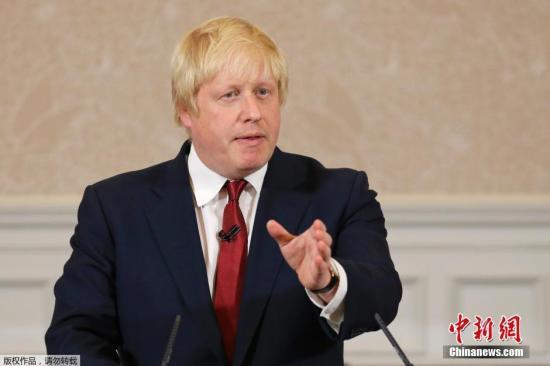 资料图片:英国首相热门人选约翰逊。