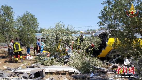 当地时间7月12日,意大利南部两列火车发生相撞事故,