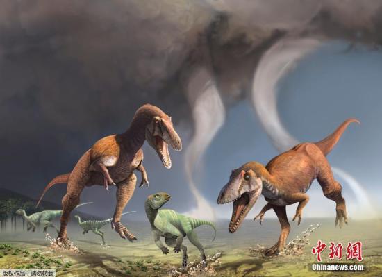 当地时间2016年7月13日,科研人员向公众介绍他们在阿根廷偶然找到的兽脚亚目恐龙化石,他们发现,这只恐龙拥有着不同于霸王龙的短小前肢。据了解,这只恐龙身高约为20英尺或更高,而它的前肢却只有2英尺长,并且每个前肢只有2根手指。