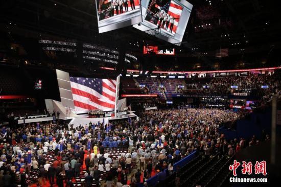 当地时间7月18日,美国共和党全国代表大会在俄亥俄州最大城市克利夫兰拉开帷幕,约5万名代表、党员和媒体参会。记者 廖攀 摄