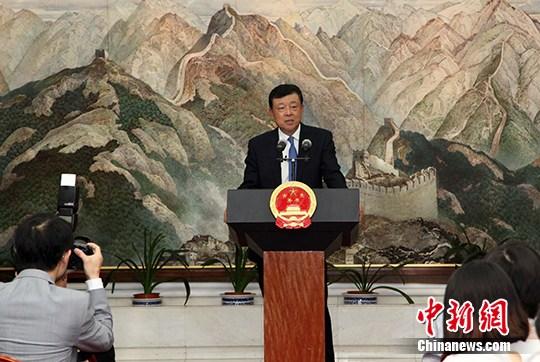 资料图:中国驻英国大使刘晓明。 中新社记者 周兆军 摄