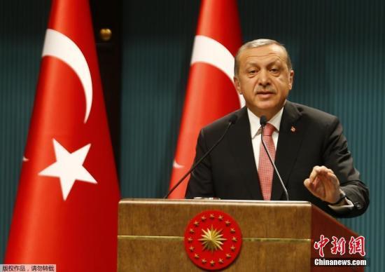 当地时间2016年7月20日,土耳其安卡拉,土耳其总统埃尔多安发表讲话。土耳其总统埃尔多安称土耳其将实施3个月的紧急状态,此举的目的是为了加强民主和自由。
