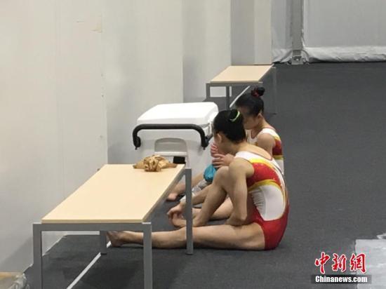 当地时间8月2日,中国女子体操队队员在里约进行训练。记者 张素 摄