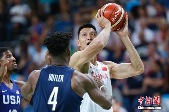 资料图:易建联率领的中国男篮在里约奥运会一场未胜。<a target='_blank' href='http://www.2ndbeginnings.com/' >中新网</a>记者 盛佳鹏 摄
