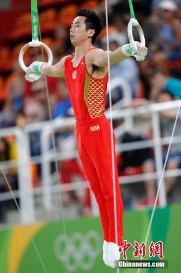 当地时间8月15日,在2016年里约奥运会体操男子吊环决赛中,中国选手尤浩获得第六名。<a target='_blank' href='http://www.chinanews.com/' >中新网</a>记者 盛佳鹏 摄