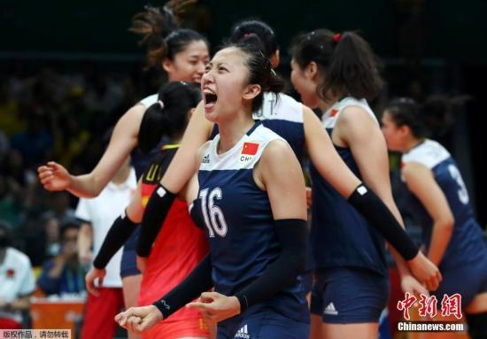 中国女排苦战5局胜东道主 晋级里约奥运会四强