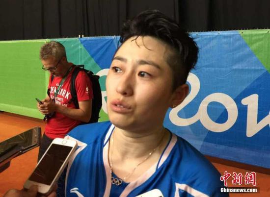 当地时间8月16日,在里约奥运羽毛球女子双打半决赛中,中国组合于洋、唐渊�s不敌丹麦组合无缘女双决赛。女双老将于洋的最后一次奥运之旅戛然而止,她流着眼泪说,自己不是有心无力。 <a target='_blank' href='http://www.chinanews.com/' >中新网</a>记者 卢岩 摄