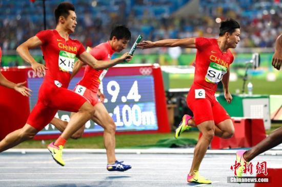 图为中国队在比赛中。<a target='_blank' href='http://www.chinanews.com/' >中新网</a>记者 富田 摄