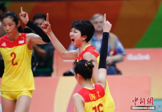 当地时间8月20日,2016里约奥运女排决赛,中国女排时隔12年再次获得奥运会冠军。<a target='_blank' href='http://www.chinanews.com/' >中新网</a>记者 杜洋 摄