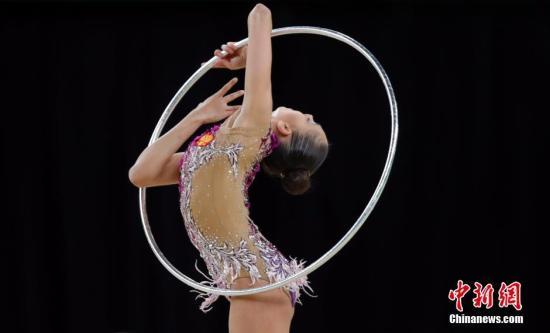 当地时间8月20日2016里约奥运会艺术体操女子个人全能决赛在里约奥林匹克体育馆进行。俄罗斯选手玛格丽塔MAMUN Margarita夺得冠军。<a target='_blank' href='http://www.chinanews.com/' >中新网</a>记者 盛佳鹏 摄