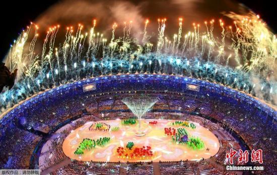 当地时间8月21日,2016里约奥运会闭幕式在马拉卡纳体育场内举行。