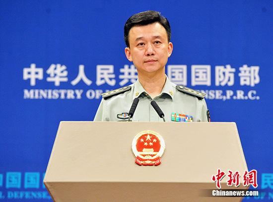 中国国防部新闻发言人吴谦资料图。 <a target='_blank' href='http://www.chinanews.com/'>中新社</a>记者 宋吉河 摄