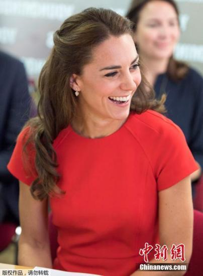 资料图:英国凯特王妃。