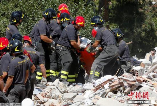 意大利地震291人遇难 救援黄金期已过救灾转向善后
