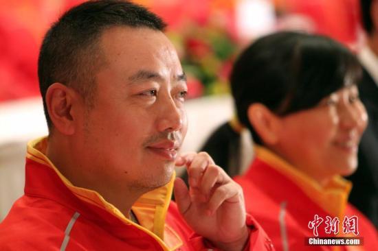刘国梁。 <a target='_blank' href='http://www.chinanews.com/'>中新社</a>记者 洪少葵 摄