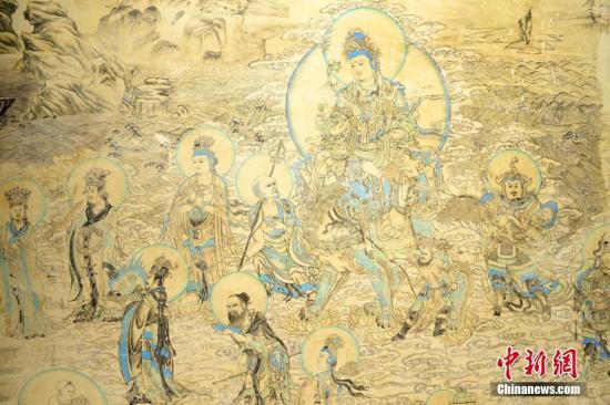 """千年敦煌壁画中的新年""""仪式感"""": 踏歌纳吉 聚会宴饮"""
