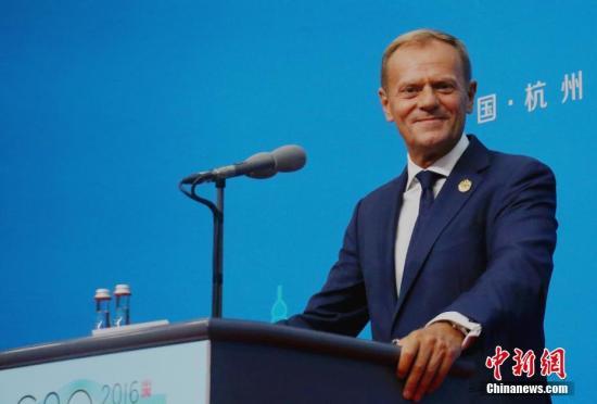 材料图片:欧洲理事会主席图斯克。 a target='_blank' href='http://www.chinanews.com/'中新社/a记者 何蒋怯 摄