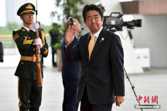 资料图:日本首相安倍晋三。 记者 金硕 摄