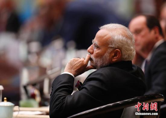资料图:印度总理莫迪。 中新社记者 杜洋 摄