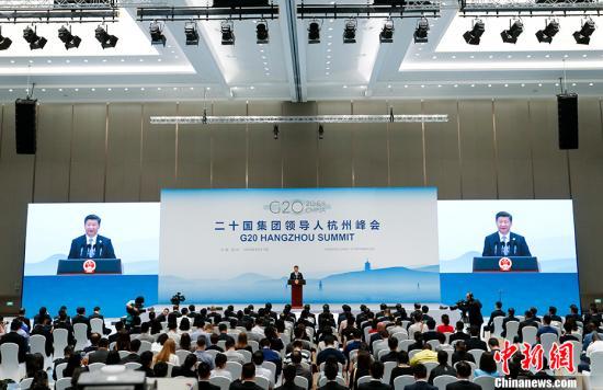 9月5日,二十国团体指导人第十一次峰会落暗地,国度主席习近平在杭州世界博览核心会晤中外记者。 中新社记者 杜洋 摄