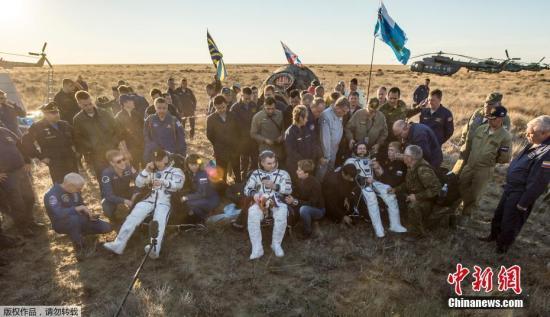宇航员阿列克谢・奥夫奇宁、奥列格・斯克里波奇卡和美国宇航局宇航员杰弗里・威廉姆斯安全返回。