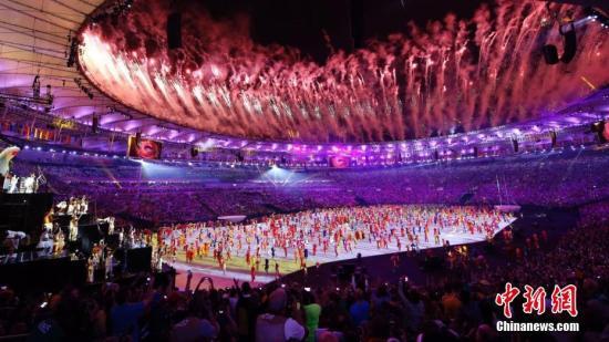 资料图:2016里约奥运会开幕式在里约热内卢马拉卡纳体育场举行。图为开幕式上的表演。<a target='_blank' href='http://sb138gw.nsb848.com/' >中新网</a>记者 盛佳鹏 摄