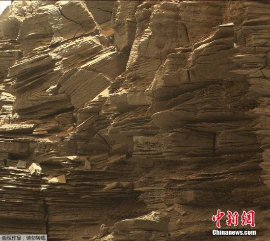 火星地表的岩层。