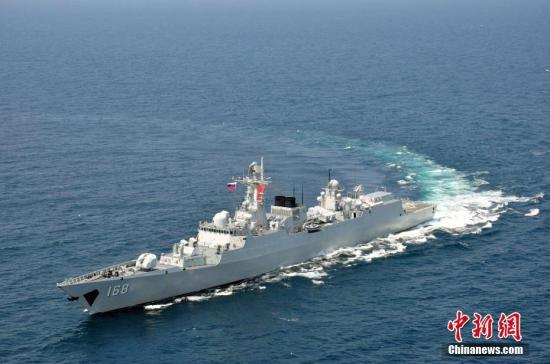 中国海军导弹驱逐舰广州舰。 <a target='_blank' href='http://www-chinanews-com.quanyinmusic.com/'>中新社</a>发 胡善敏 摄 图片来源:CNSPHOTO