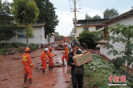 2016年9月,云南元谋发生泥石流灾害。钟欣 摄