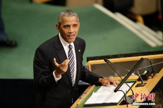 资料图:奥巴马。 记者 廖攀 摄