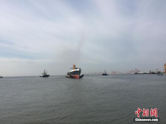 """资料图:甲午战舰""""致远""""纪念舰。 中新社记者 张颖 摄"""