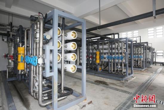 资料图:三沙市永兴千吨海水淡化厂。中新社记者 许文 摄