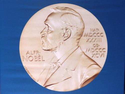 资料图:诺贝尔奖奖章。