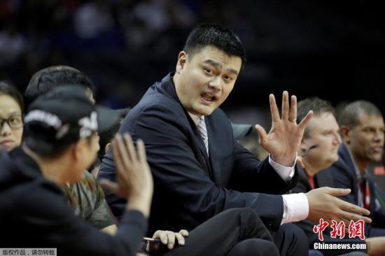 """姚明再度为中国篮球带队""""出征""""。"""