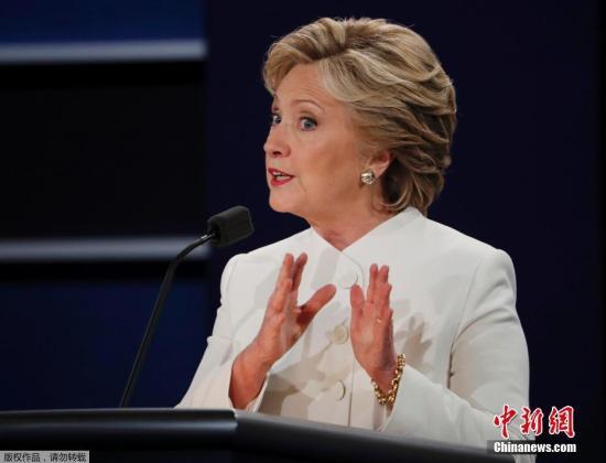 材料图:本地时刻2016年10月19日,美国拉斯维加斯,2016美国总统大选第三场答辩也是末了一次答辩在美海内华达大学拉斯维加斯分校举办。